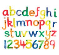 Letras y números blandos y resplandecientes Pack de 36 unidades