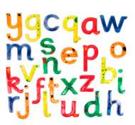 Letras minusculas blandas y resplandecientes pack de 26