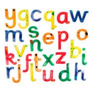 Letras mayúsculas blandas y resplandecientes pack de 26 letras