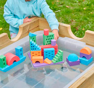 Bloques de diseño y construcción para agua Pack de 30 unidades