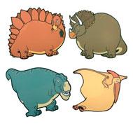 Pizarras de dinosaurios para exteriores Pack de 4 unidades