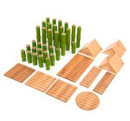 Bloques de construcción de bambú pack de 40