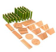 Bloques de construcción de bambú -set pack de 80 piezas