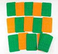 Placas con relieve de números y elementos para contar Pack de 20 unidades