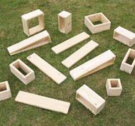 Bloques huecos gigantes para exteriores -set2 set de 15 piezas