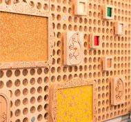 Juego de 10 marcos de inserción de tarjeta para panel muro set de 10