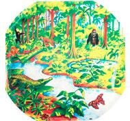 Alfombrilla mundo activo - selva