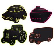 Pizarras de exterior medios de transporte Pack de 5 unidades