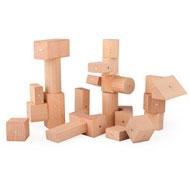Bloques de madera magnéticos Pack de 30