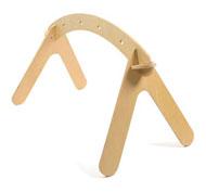 Barra colgante de madera para bebés