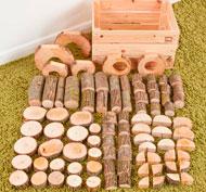 Caja constructor piezas naturales set de 90 piezas