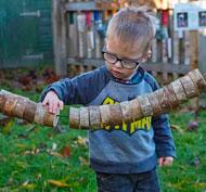 Línea de enhebrar los troncos set de 20 piezas