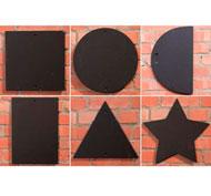 Pizarras de formas geométricas para exterior set de 6 piezas