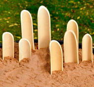 Palas de bambú set de 8 piezas