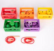Cajas de madera para la clasificación de frutas y verduras Set de 27 piezas