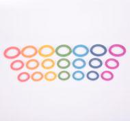 Anillas de madera arcoíris Set de 21 piezas