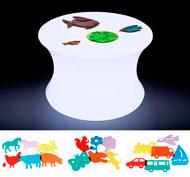 Gran kit exploración mesa de luz con 18 plantillas de regalo el conjunto