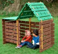 Construcción cabaña del bosque set de 60 piezas