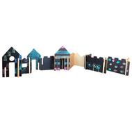 Construcción arquitectura ciudad las casas pizarra pack de 28 piezas