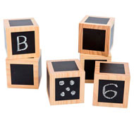 Cubos de madera pizarra pack de 10 piezas