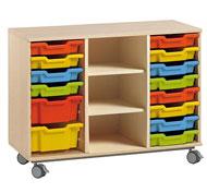 Mueble alfa nº3  sin puertas +14 cubetas(según foto catalogo)