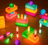 Gran set de piezas geométricas luminosas lpte de 30