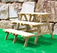 Grada de madera para exterior patio