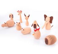Animalitos de madera los amigos Set de 10 piezas