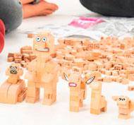 Construcción de madera Fab Brix en caja 250 piezas set de 250 piezas