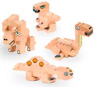 Construcción de madera Fab Brix Dinosaurios set de 118 piezas