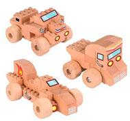 Construcción de madera Fab Brix Vehículos set de 22 piezas