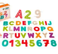 Letras y números para reseguir y coser ECO set de 37
