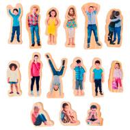 Juegos las emociones figuras niños de madera set de 15 piezas