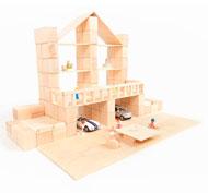Construcción bloques de madera Just blocks 166 piezas 166 piezas
