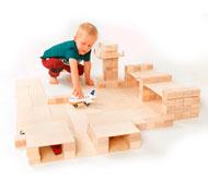 Construcción bloques de madera Just blocks 336 piezas 336 piezas
