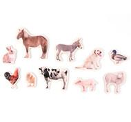 Animales de la Granja magnéticos de bambú set de 10 piezas