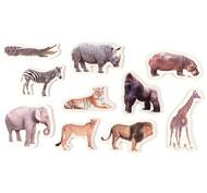 Animales de la Selva magnéticos de bambú set de 10 piezas