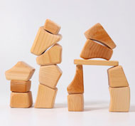 Bloques naturales Waldorf set de 15 piezas