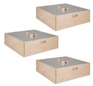 Gran kit cubos medianos con espejo 60x60x20 kit de 36 piezas