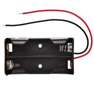 Portapilas con cables (2 x aa)