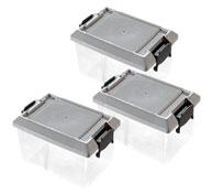 Cajas almacenamiento con tapa (d) 1 l. lote de 3