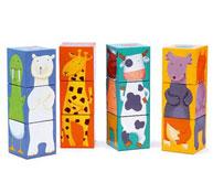 Puzzle 12 cubos los animales la unidad