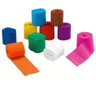 Cintas de papel crespón 32 g  colores vivos lote de 10