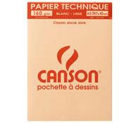 Estuche de hojas de papel de dibujo liso canson a3 la unidad