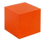 Base 10 multicolor cubo de los millares la unidad