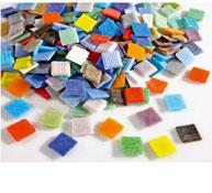 Grandes mosaicos en pasta de vidrio aprox. 293