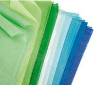 Papel de seda 18 g colores fríos lote de 20