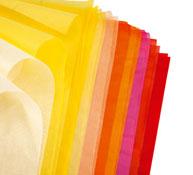 Papel de seda 18 g colores cálidos lote de 20