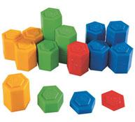 Pesos de plástico de 1 g a 20 g lote de 54