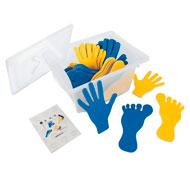 Cubeta pies y manos marcaje para el suelo de fieltro el conjunto